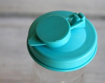 vintage quart juice bottle with aqua turquoise top spout retro kitchen storage container