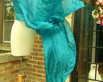 Belly Dance Veil Rich Teal Silk Veil