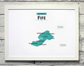 Fife County Map | # print, poster, vintage, scotland