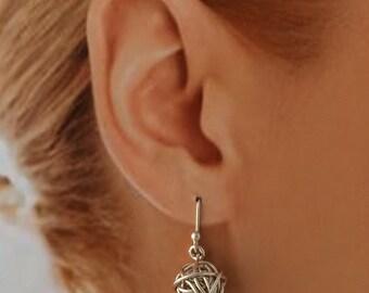 Sterling Silver Ball of Wool Earrings