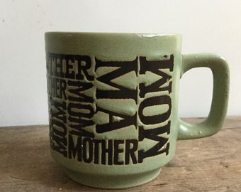 Vintage Mom Mother Ma Coffee Mug Japan