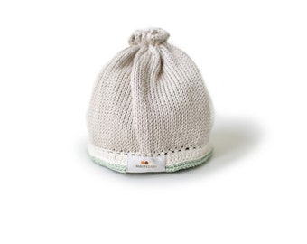 Signature Baby Hat: Taupe Sage