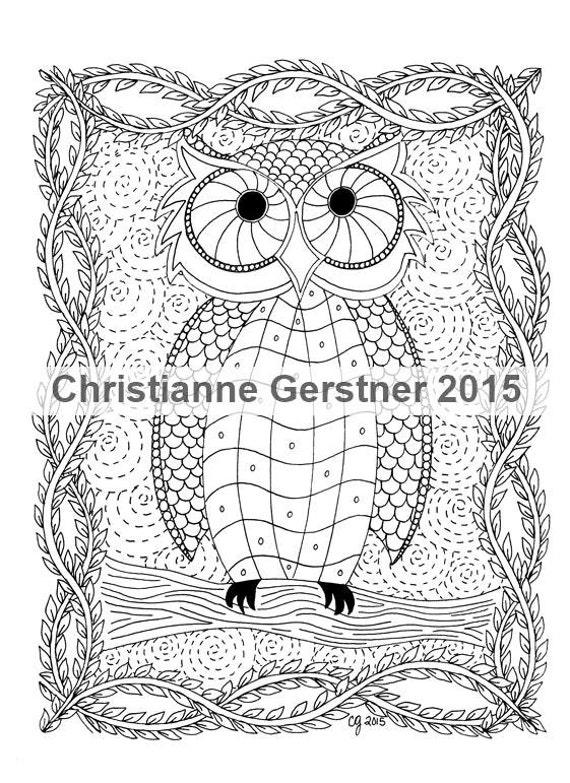 Instant Digital Download Night Owl