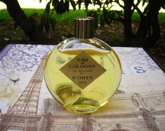vintage Je Reviens eau de cologne by Worth, 2.25 oz. splash bottle