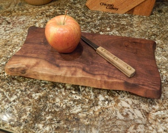Rustic footed Walnut Cutting Board, Bread Board, or Serving Tray -  Plate