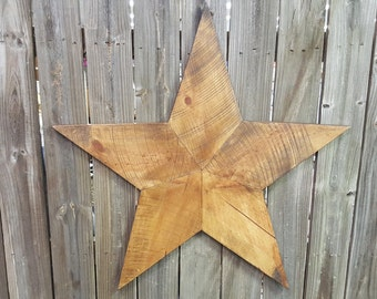 Large Rustic Reclaimed Wood Star Wall Hanging
