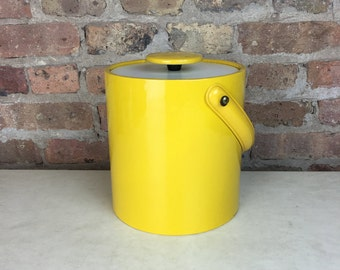 Yellow Vinyl Ice Bucket
