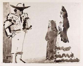 PABLO PICASSO - 'Toros y Toreros' - vintage offset lithograph, c1961 (Mourlot/Editions Cercle d'Art, Paris)