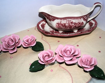 Porcelain Roses for the wall