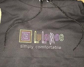 LuLaRoe Embroidered Hoodie  LLR Sweatshirt  LuLa Roe Embroidered Hoodie