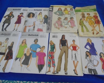 Sz 14 and up  U Pick   sEWING pATTERNS Tops Pants Capris Skirts Dress Mini Dress Knits