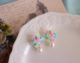 KAWAII Earing cabochons charms lolita japanese