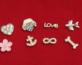 """10pc """"mixed"""" floating charms for memory lockets (LC6)"""