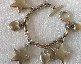 CLEARANCE Sale Chunky Hearts and Stars Bracelet
