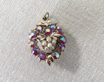 CLEARANCE Sale Pearl Aurora Borealis Pendant