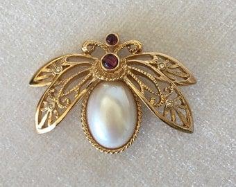 sale Vintage Avon Bug Brooch