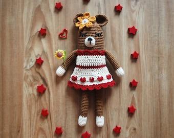 crochet bear, crocet dolls, bear pattern, handmade bear, teddy bear, crochet teddy, crochet toys, crochet cute, PDF Instant Download Pattern