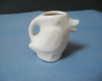 Miniature Duck Pitcher, Small White Pitcher