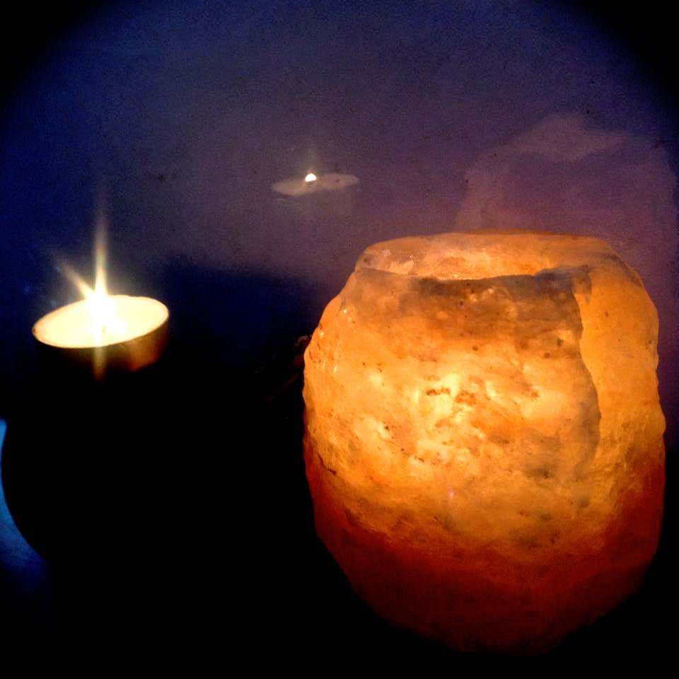 Salt Lamp Tea Lights : Himalayan Salt Crystal Rock Tea Light Candle by MagickAndMacabre