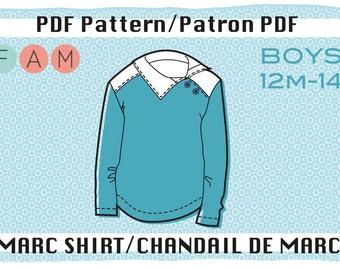 PDF pattern of Marc shirt