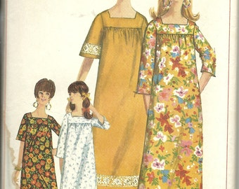 "Simplicity 6792 Misses ""MuuMuu""  in two lengths  10-12"