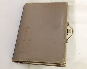 Pierre Balmain, Leather Wallet ,Coin Purse, Taupe