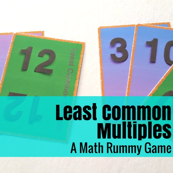 Least Common Multiple Rummy Math Game