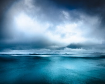 Extra large photography - Scotland - Scottish Highlands - Clouds and sea - dramatic island photography