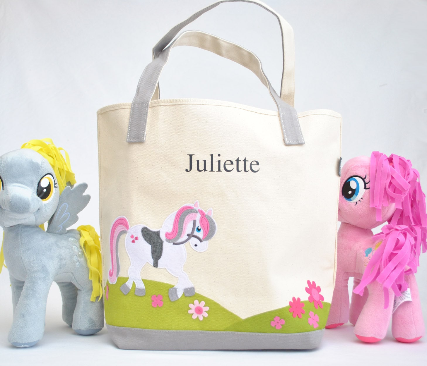 Large pony tote bag girls book bag kids tote bag library large pony tote bag girls book bag kids tote bag library book bag easter gift unicorn party big sister kit preschool tote bag negle Images
