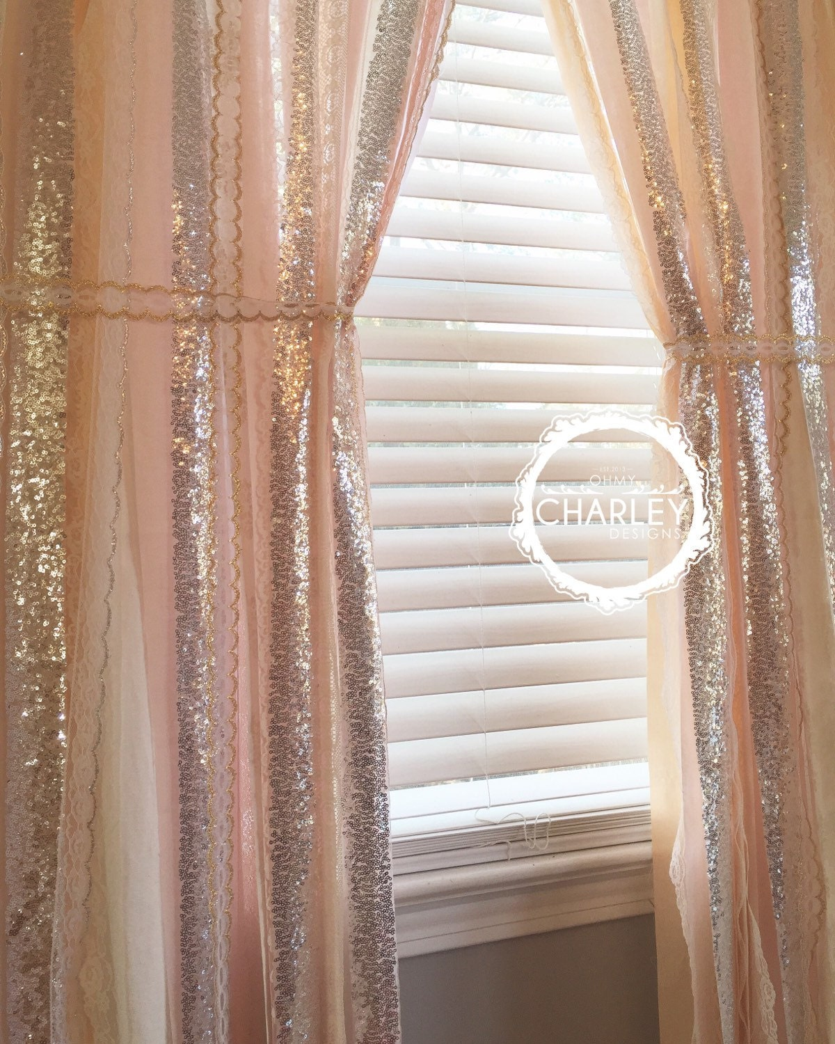blush peach nude rose quartz with silver sparkle sequin. Black Bedroom Furniture Sets. Home Design Ideas