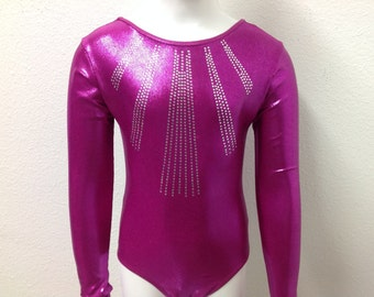 Long Sleeve Gymnastics Leotard for Girls