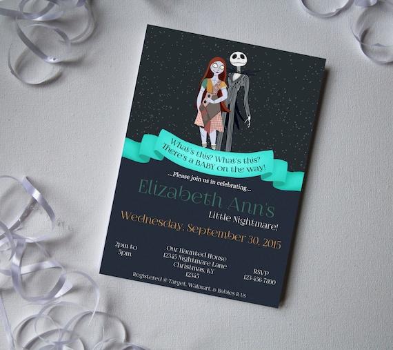 nightmare before christmas baby shower invite diy printable invitation