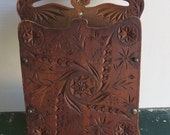 Vintage/Antique Candle Box Penn Dutch Wood Chip Carved