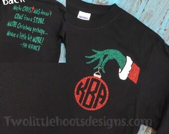 "Shop ""christmas monogram"" in Clothing"