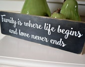 """Family Wood Sign, 5x18"""" Reclaimed Wood Sign, Family Rustic Chic, Inspirational Quote Sign, Pallet Wood Sign, Family Quote, Wood Sign Love"""