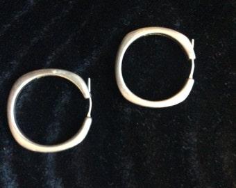 Tiffany Silver Hoop Earrings