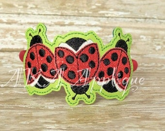 ITH Triple Ladybug Headband SLIDER™ Embroidery Design