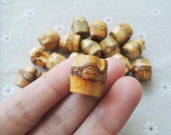 10 Pcs 15mm bamboo bead No Varnish (NW082)