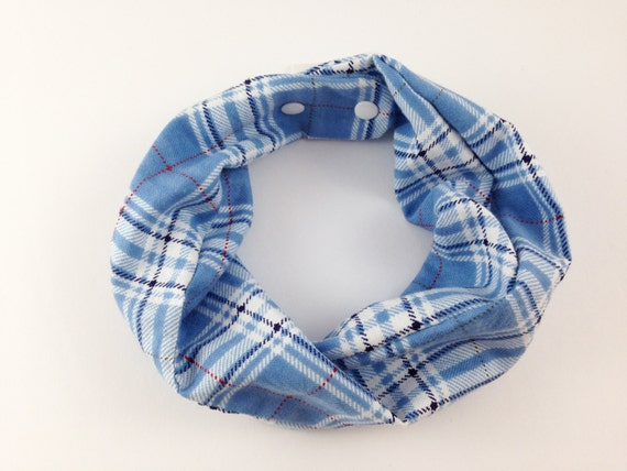 Light Blue Plaid Baby Infinity Scarf Baby Boy By
