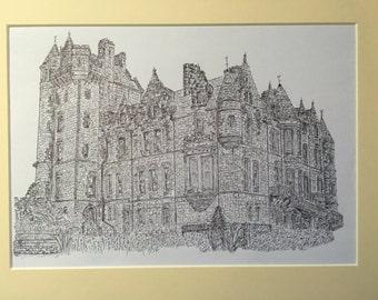 The Belfast Castle, Co.Antrim Print