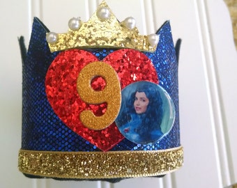 Descendants disney Evie Birthday large Crown Headband . Birthday crown party Evie disney Descendants disney Headband  photo prop CUSTOMIZE