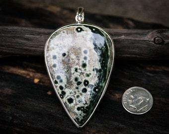 Orbicular Jasper Pendant - Ocean Jasper Necklace - Orbicular Jasper - Ocean Jasper Gemstone Pendant - Ocean Jasper Jewelry