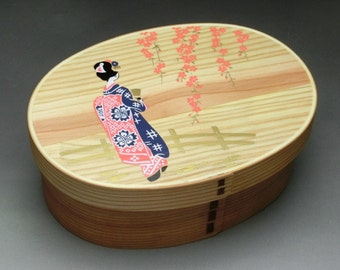 japanese bento lunch box lacquer box rabbit design by. Black Bedroom Furniture Sets. Home Design Ideas