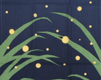 Tenugui Japanese Hand Towel Firefly Design