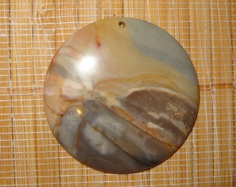 SALE on this Pendant ~ 3.00 Off / Succor Creek Jasper Round Pendant Bead