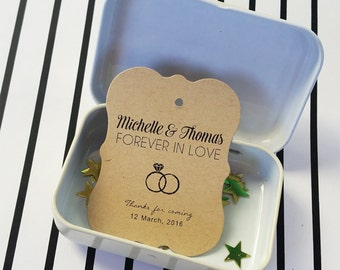 Rustic Favor Tags, Wedding Thank You Tags, Custom Wedding Tags, Rustic Favor Bag Tags, Wedding Tags, 24 pcs