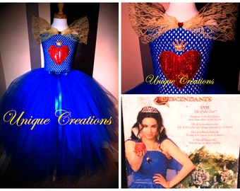Evie from Descendants inspired coronation tutu dress
