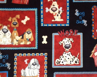 One Half Yard of Fabric - A Dogs Life Frames