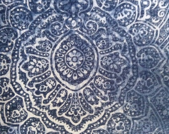 One Half Yard of Fabric - Indigo Medallion