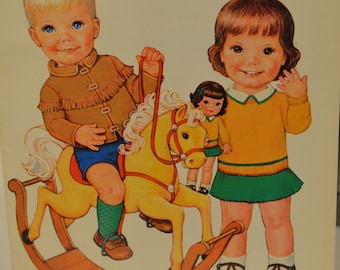 Antique vintage best friends paper dolls in full color new paper dolls by Queen Holden